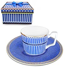 Paris style Classical Tea cup and Saucer Set , Bone china