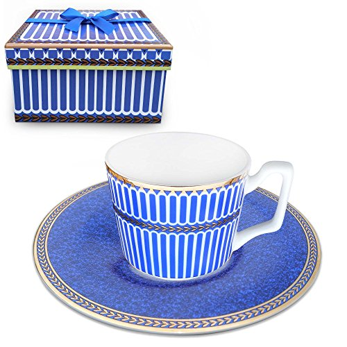 Paris Teacup - Paris style Classical Tea cup and Saucer Set , Bone china