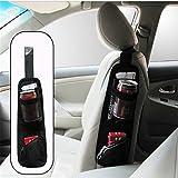 car organizations - Universal Car Seat Storage Organizer - ZATOOTO Portable Hanging Storage Bag With Multi-pocket Mesh - Cell Phone Sun Glasses Drinks Holder Travel Organizer (Black)