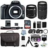 Canon EOS Rebel SL2 Bundle With EF-S 18-55mm IS STM & EF 75-300mm III Lens + Canon SL2 Camera Deluxe Accessory Kit - Canon SL2 Bundle Includes EVERYTHING You Need To Get Started