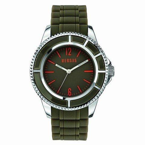 Versus By Versace Tokyo Green Dial Green Rubber Unisex Watch SGM100014