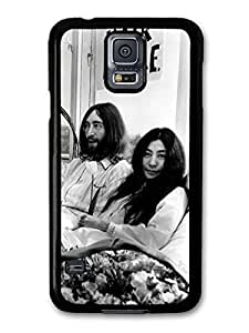 AMAF ? Accessories John Lennon and Yoko Ono Black and White Hair Peace case for Samsung Galaxy S5