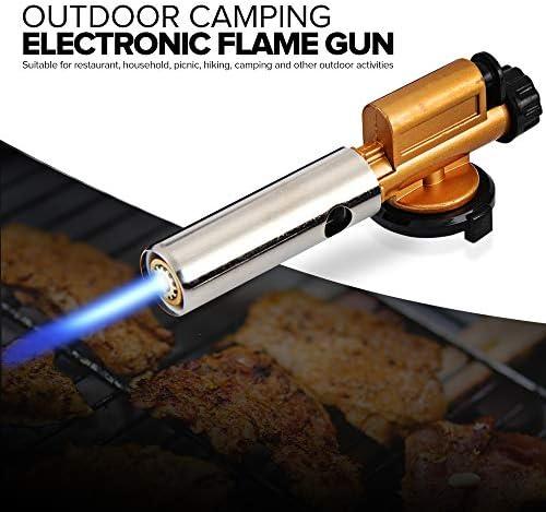 Zhoutao 2 PCS/Set gaz Butane Allumage électronique Gun for camping en plein air de pique-nique barbecue Welding