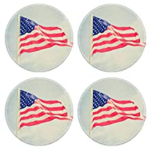Luxlady Round Coasters Vintage retro looking Flag of the USA United States of America IMAGE 26854836 Customized Art Home Kitchen