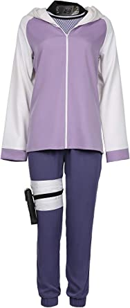 Amazon Com Newcos Hinata Hyuga Outfit Cosplay Costume For Adult Women Clothing