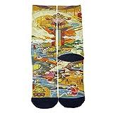 Chineses Style God of Wealth Tube Socks Cool Street Socks Hip Hop Street Professional Skateboard Sports Men Women Socks Black