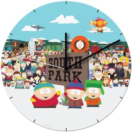 Vandor 39189 South Park 13.5 Cordless Wood Wall Clock, Multicolor