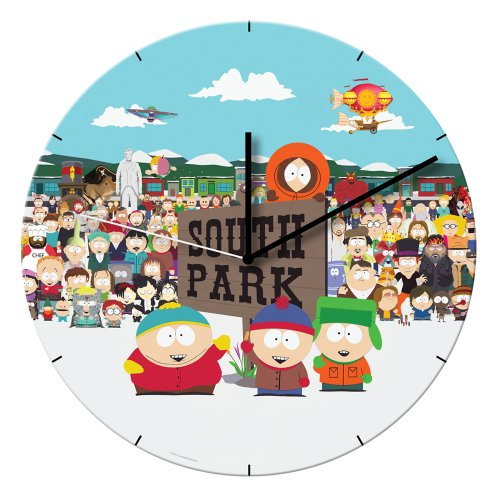 "Vandor 39189 South Park 13.5"" Cordless Wood Wall Clock, Multicolor"