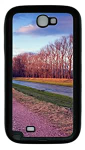 Riverside Road TPU Rubber Soft Case Cover For Samsung Galaxy Note 2 / Note II/ N7100 - Black