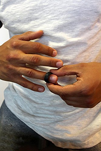 KAUAI-Silicone-Rings-Elegant-Comfortable-Engagement-Wedding-Ring-Marriage-Bands-for-Men-Non-Conductive-Rubber-Metal-Free-Jewelry-Proposals-Sports-Gym-Work-Military-Medical-Grade-Silicone