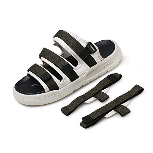 Xing Lin Sandalias De Hombre Los Hombres Sandalias De Playa Nueva Zapatos Para Hombres Sandalias Y Zapatillas Para Hombres Sandalias Hombres Marea Arrastre La Palabra Zapatillas Para Hombres Verano An green