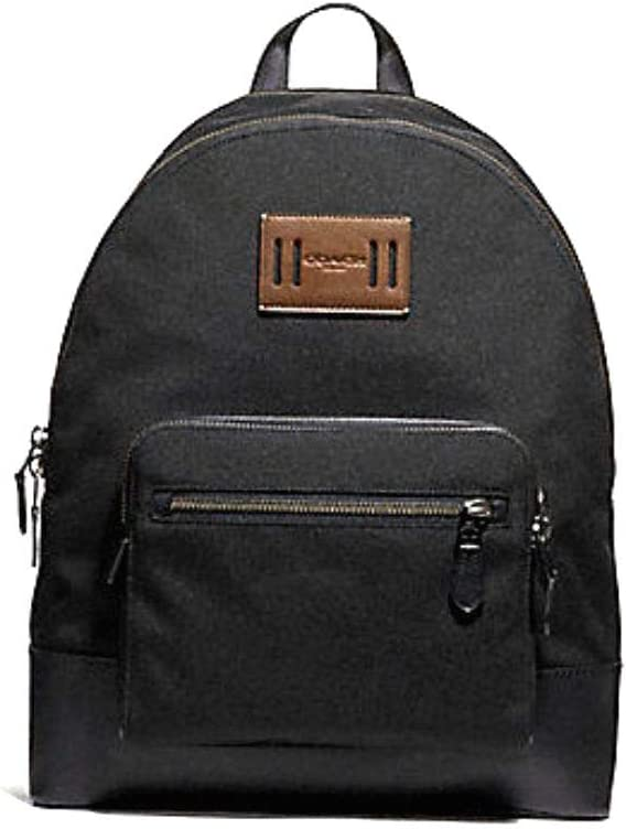 Coach F27609 West Cordura Backpack Leather Accents Antique Nickel Black