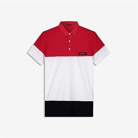 Weentop Top Casual de Verano para Hombre Camisa Polo de Manga Corta para Hombres con diseño de Solapa y Color para Regalo de Novio (Color : Rojo, tamaño : Metro): Amazon.es: Hogar
