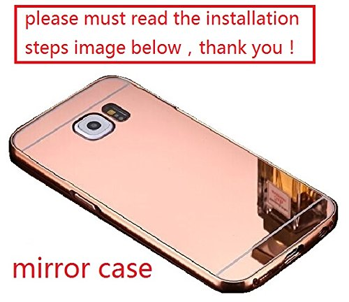 A-Smile @ Samsung Galaxy S6 Edge Plus Case, Luxury Metal Air Aluminum Bumper Detachable + Mirror Hard Back Case 2 in 1 cover Ultra-Thin Frame Case For Samsung Galaxy S6 Edge Plus, (Rose)
