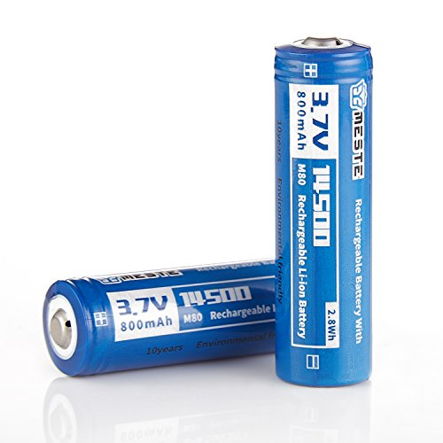 AA Rechargeable Batteries 800mAh 14500 Batteries 3.7V for So