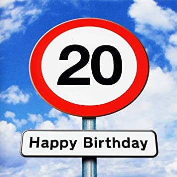 Twizler 20th birthday card roadsign 20 year old age 20 twizler 20th birthday card roadsign 20 year old age 20 birthday card bookmarktalkfo Choice Image