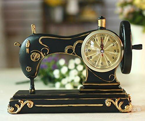 WHH Relojes de moda jardín europeo. Reloj de mesa de resina ...