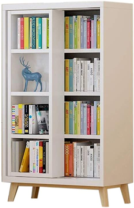 XYZX Estantería Libros con Puerta corredera, 4 Capas, Armario de Documentos de Almacenamiento, una Variedad de Estilos, estantes Independientes para gabinetes: Amazon.es: Hogar