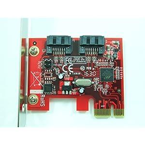 Ableconn PEX-SA115 2-Port SATA 6G PCI Express Host Adapter Card - AHCI 6Gbps SATA III PCIe 2.0 Controller Card (Marvell 88SE9128 Chipset) - Support Hardware RAID 0, 1