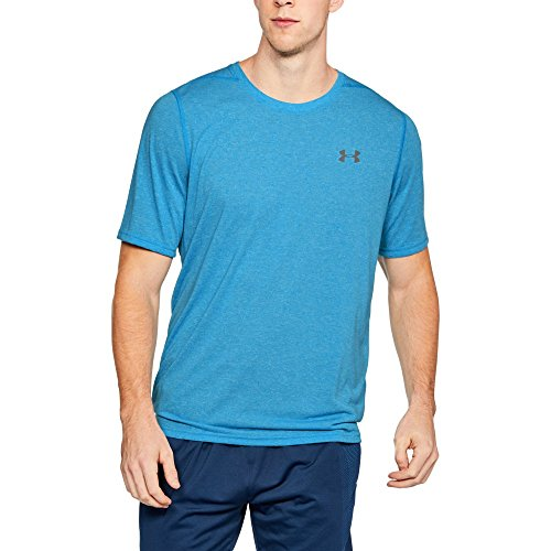 Under Armour Men's Threadborne Siro T-Shirt, Canoe Blue (713)/Steel, Large
