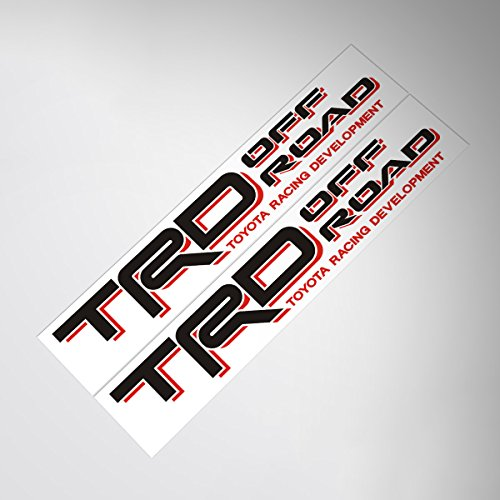 Demupai TRD Off Road Decal Vinyl Car Stickers for TOYOTA LAND CRUISER/TUNDRA/PRADO (Black + Red)