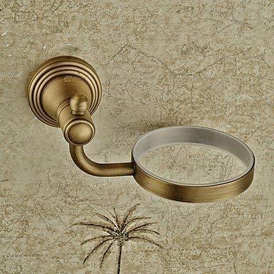 QiXian Toilet Brush Waste Bin Set Antique Bronze Wall Mounted Toilet Brush Holder Strong Sturdy