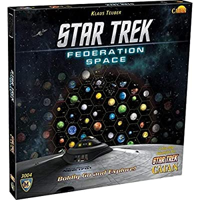 Star Trek Federation Space, A Two Map Expansion for Star Trek Catan: Toys & Games