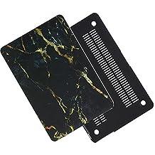 Macbook Pro Retina Display 13inch Case,MAETEK Marble Coating Ultra-thin Pro-skin Premium PC Hard Protective Cover Case for Macbook Pro Retina Display 13inch(A1502/A1425)-yellowblack
