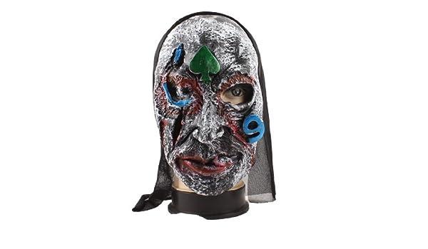 Amazon.com: eDealMax Imprimir cara en Forma de corazón de goma máscara de Halloween Partido Verde Puntales: Home & Kitchen
