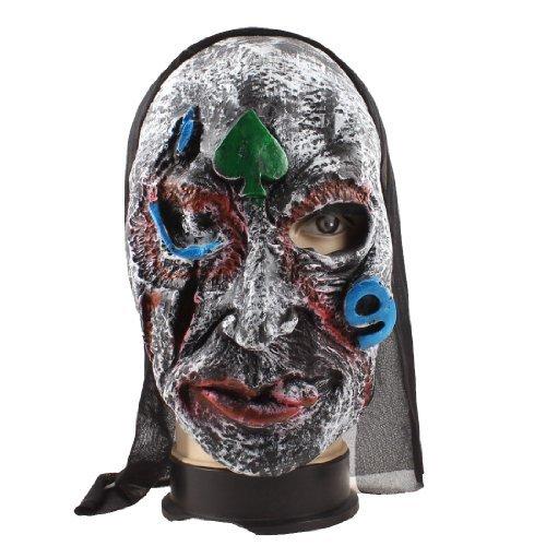 eDealMax A Forma di Cuore Stampa Gomma maschera di protezione Props Halloween Party Verde for $<!--$8.02-->