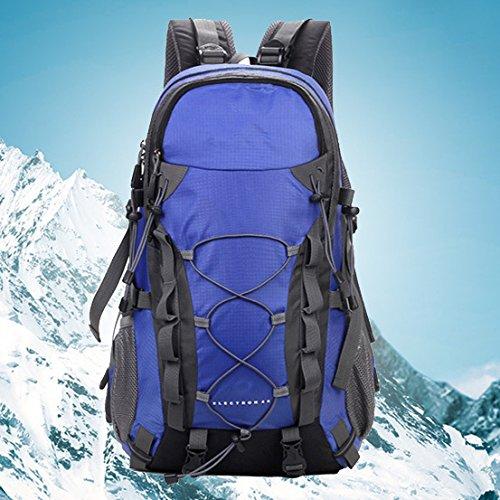 Un equipo de mochila al aire libre senderismo de nuevo día senderismo camping capacidad impermeable de los hombres , green Blue