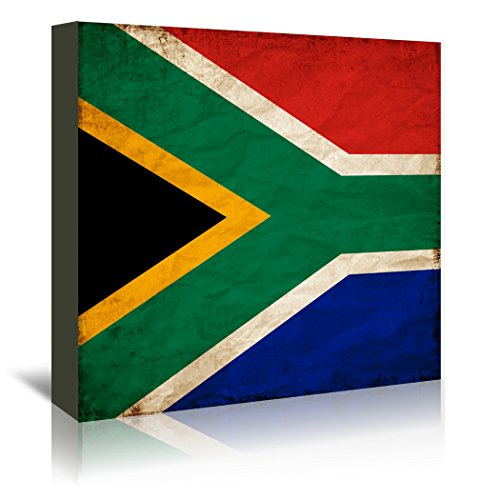 Americanflat South Africa Flag Gallery Wrapped Canvas by Wonderful Dream, 30'' x 30'' x 1.5'' by Americanflat