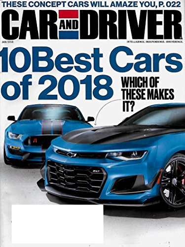 Car Driver Magazine And (Car and Driver January 2018 10 Best Cars of 2018)