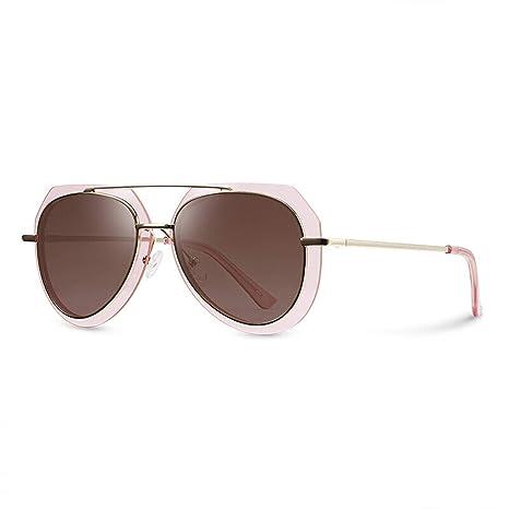 7ee49a06528f2 CJJC Gafas de Sol polarizadas de Gran tamaño de Las Mujeres Gafas de Sol  Ultravioleta de