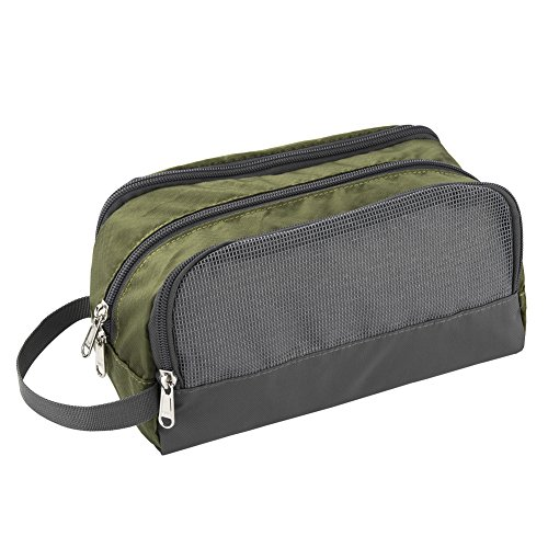 Shower Bag, Yeiotsy Travel Toiletry Organizer Small Toiletry Bag Unisex Gym Bag (Army Green) by Yeiotsy (Image #2)