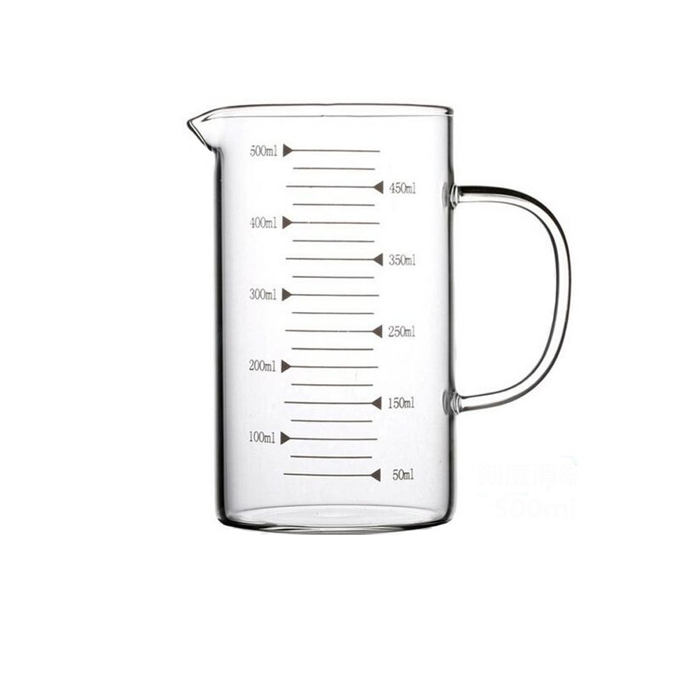 Borosilicate Glass Measuring Cup with Spout 350ml Ronyes Lifescience