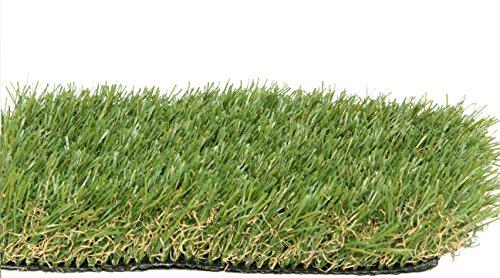 Zen Garden PZG Premium Artificial Grass Patch w/Drainage Holes & Rubber Backing | 4-Tone Realistic Synthetic Grass...
