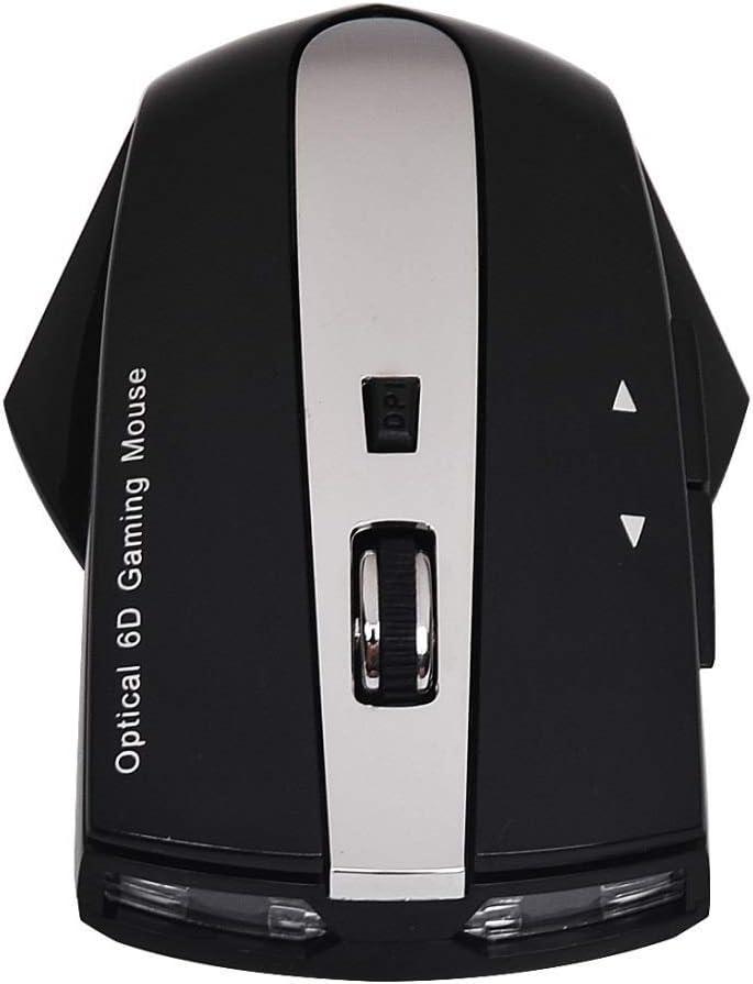 Chunjiao MZ-011 2.4GHz 1600dpi sans Fil Rechargeable Souris Optique avec HUB Fonction Souris de personnalité élégante (Color : Silver) Black Silver