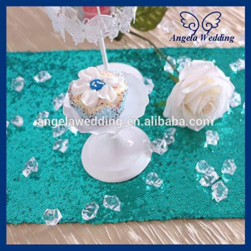 - Angelsun RU002B Custom Made Decorative Metallic Emerald Green Sequin Table Runner