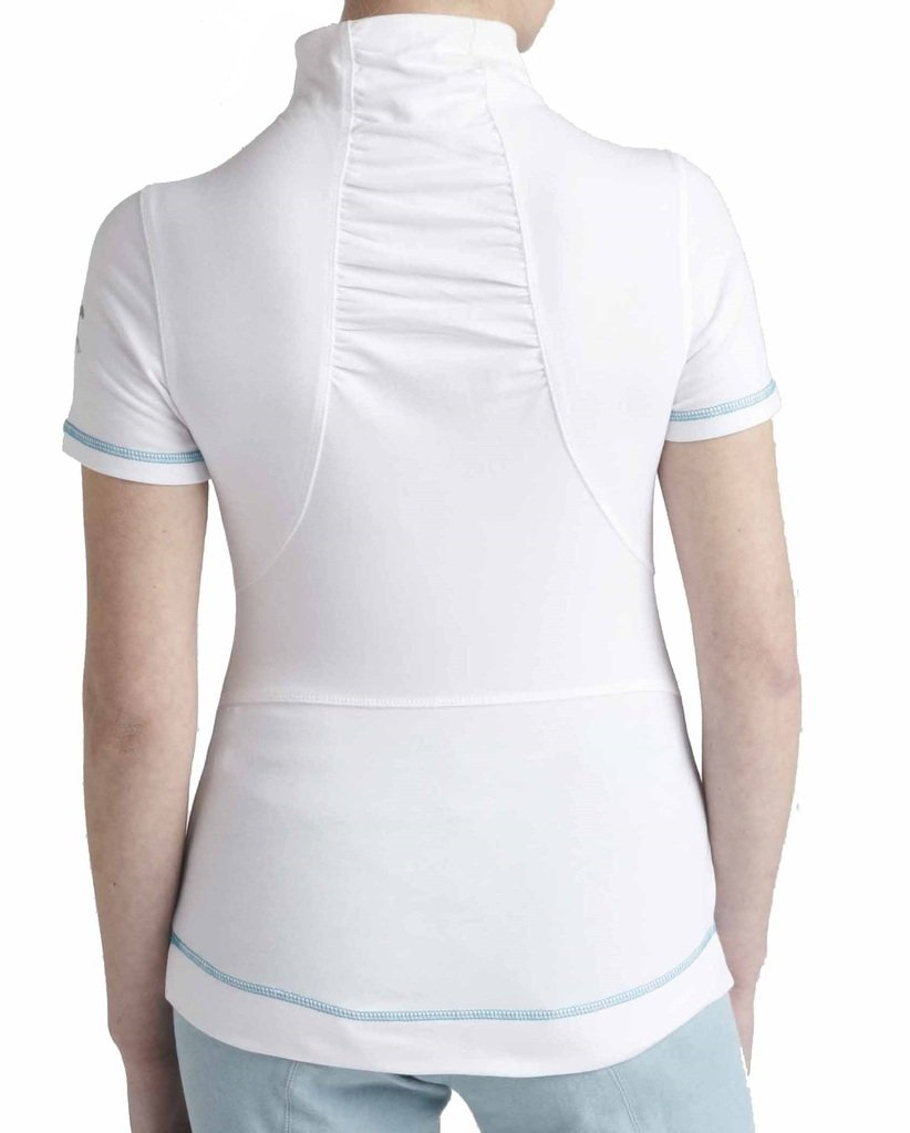 Guarra damas Maven cremallera Polo, color Blanco - blanco, tamaño ...