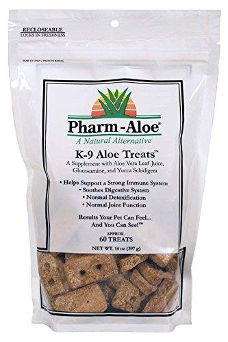Natural Dog Treats made with Aloe Vera Juice, Glucosamine & Yucca Schidigera
