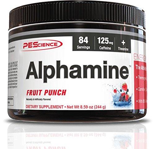 PEScience Alphamine Versatile Thermogenic Energy Powder, Fruit Punch, 8.59 Ounce