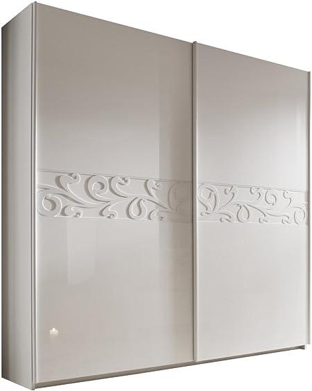 Matelpro-Armario para adulto, diseño de puertas correderas Estelle 280 cm, lacada, color blanco: Amazon.es: Hogar