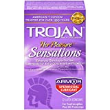 Trojan Her Pleasure Sensations Spermicidal Lubricated Condoms, 12ct