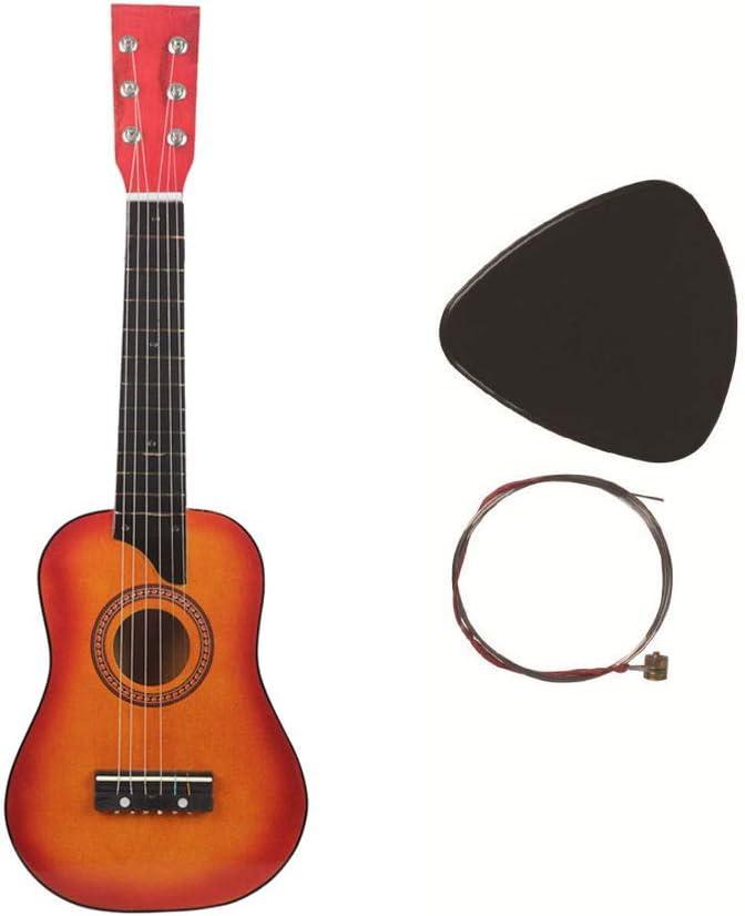 ADATEN Guitarra Bajo Niños 6 Cuerdas Cuerda de Alambre de Acero 24 ...
