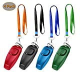 WEONEPAW Dog Training Whistle and Clicker,Ultrasonic to Stop Pet Barking,Train Skills Tools,4 Set(Red,Black,Green,Blue)