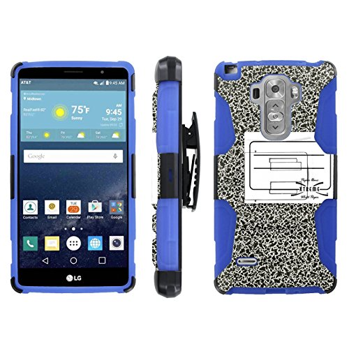 [ArmorXtreme] Case for LG G Vista 2 H740 Black/Blue [Combat Armor Heavy Duty Case with Holster] - [NoteBook] (Vista Laptops Lg)