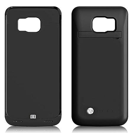 Funda Bateria para Galaxy S6 Edge, 4200mAh Carcasa Bateria Externa Recargable Portatil Protector Cargador Power Bank Case para Samsung Galaxy S6edge ...