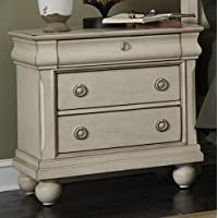 Liberty Furniture Rustic Traditions II Bedroom Night Stand, Rustic White Finish