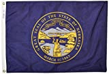 Annin Flagmakers Model 143250 Nebraska State Flag Nylon SolarGuard NYL-Glo, 2×3 ft, 100% Made in USA to Official Design Specifications For Sale